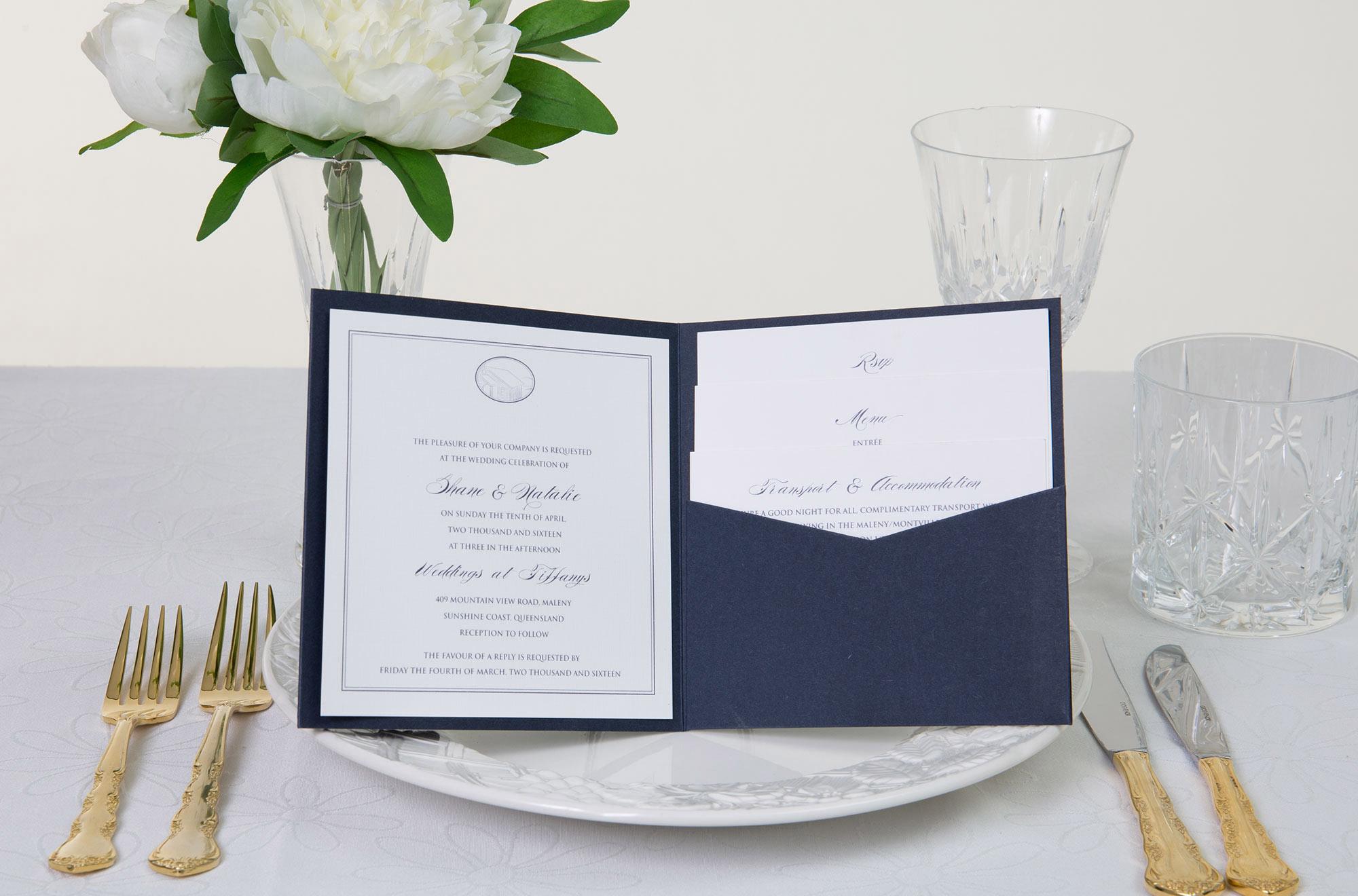 Blue Bird Invitations