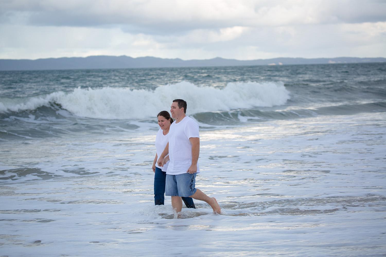 engagement photo at beach