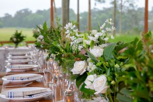 Wedding flowers for table settings