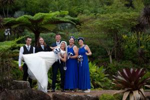 Wedding bridal party at Maleny Botanic Gardens by Malenyweddingphotography