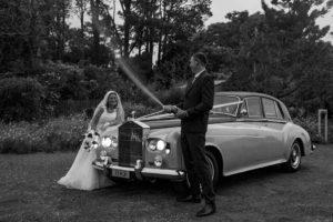 Black&white wedding photo