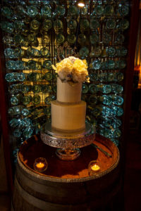 Wedding cake at Flaxton Gardens by Malenyweddingphotography