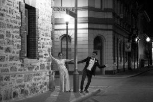 Wedding couple in Freemantle Black&White photo by Malenyweddingphotography